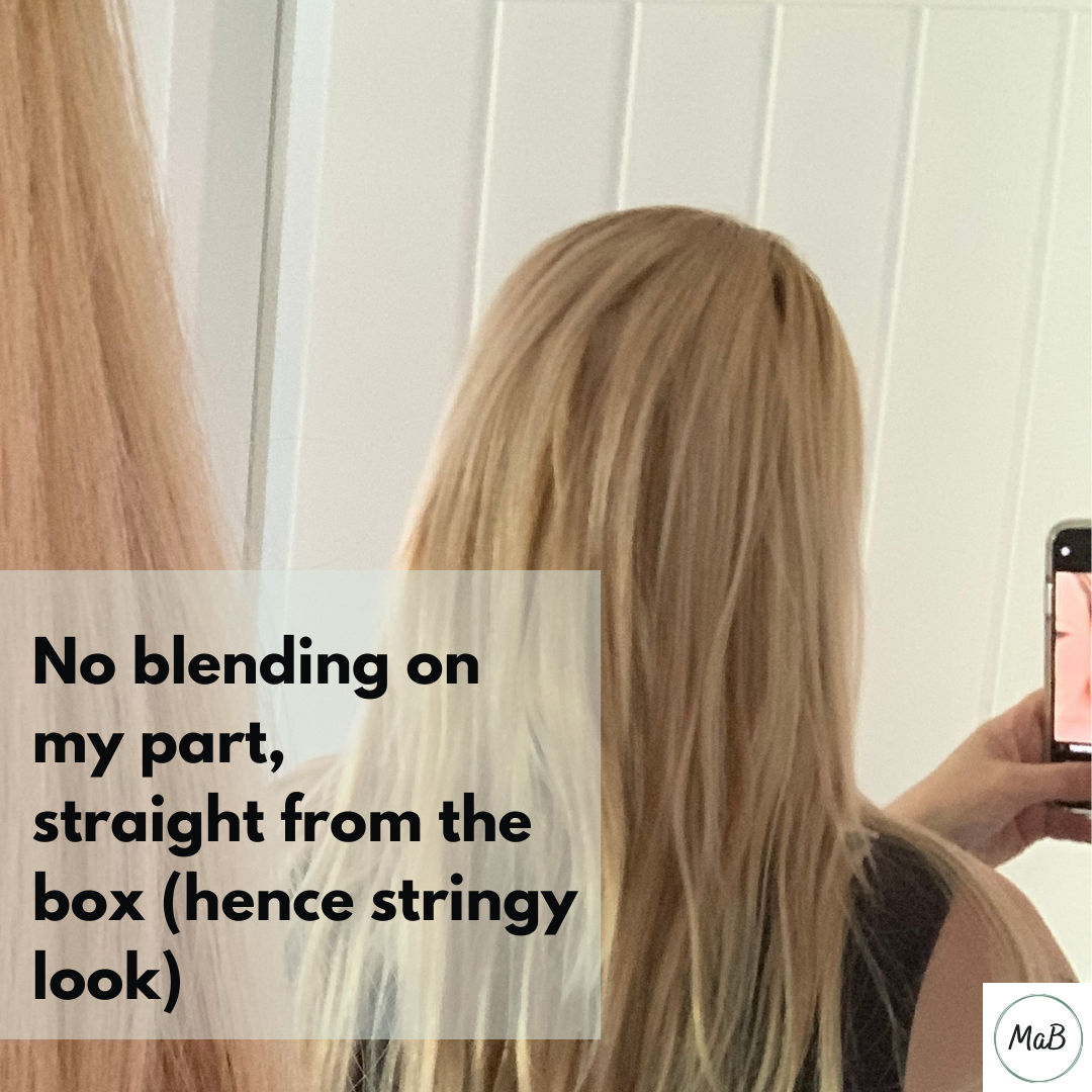 Clip-in hair extensions Milk & Blush results review