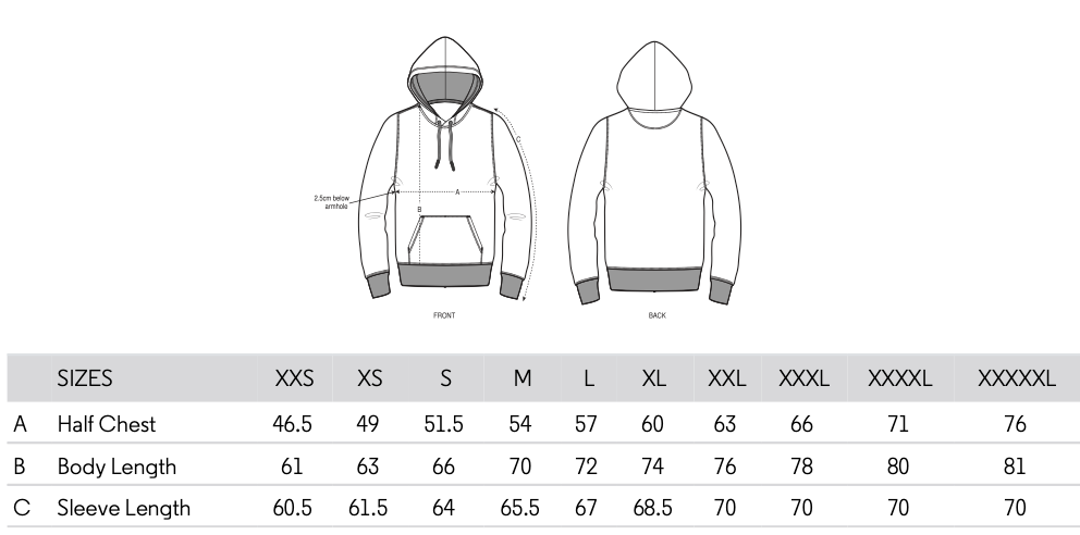 Building my fempire hoody size guide