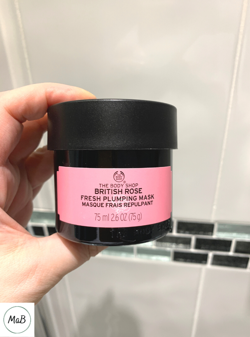 Photo of a jar of British Rose Face Mask from The Body Shop.